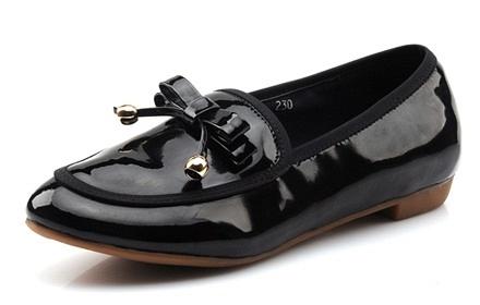 如熙 黑糖果多色真牛皮女鞋单鞋
