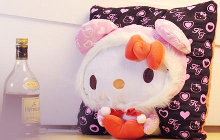 安吉宝贝可爱恶魔猫猫卡通抱枕
