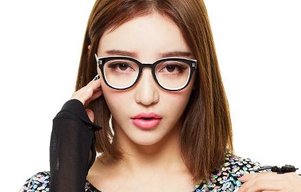 时尚拼色个性眼镜框