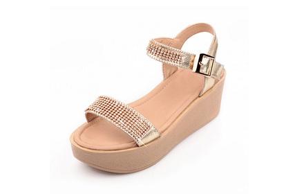 时尚潮流女鞋金色