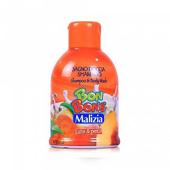 意大利•玛莉吉亚(Malizia )棒棒糖二合一洗发沐浴露(牛奶鲜桃香型)500ml