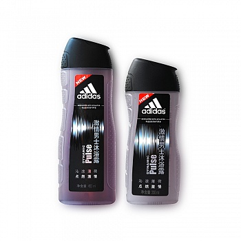 德国•阿迪达斯(Adidas)男士激情沐浴露400ml+250ml套装