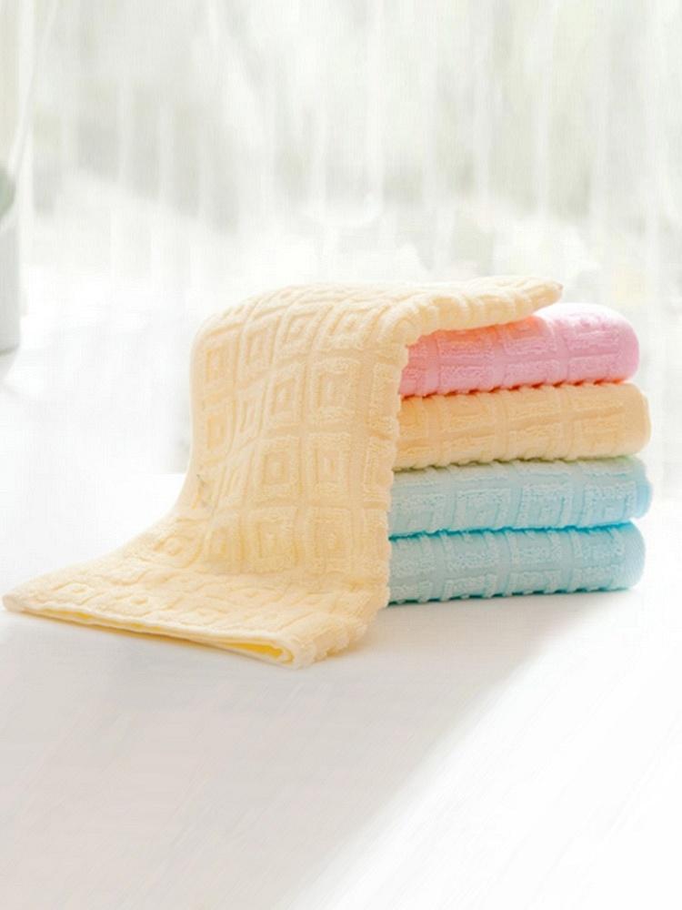 洁丽雅两条装纯色格子毛巾纯棉-聚美优品-名RXWO系列图片