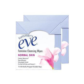 美国•夏依Summer's Eve女性清洁湿巾(清新花香型)16片*2盒