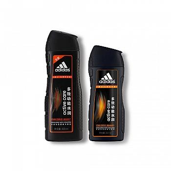 阿迪达斯(Adidas)男士多效动能水润去屑洗发露400ml+200ml
