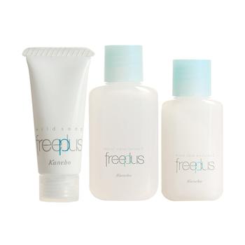 芙丽芳丝(freeplus)保湿修护清洁旅行套(洗面霜7g+柔润乳液5ml+柔润化妆水9ml)