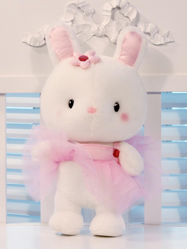 安吉宝贝可爱芭蕾兔公仔,三维中空pp棉,优质超柔绒,送礼必选