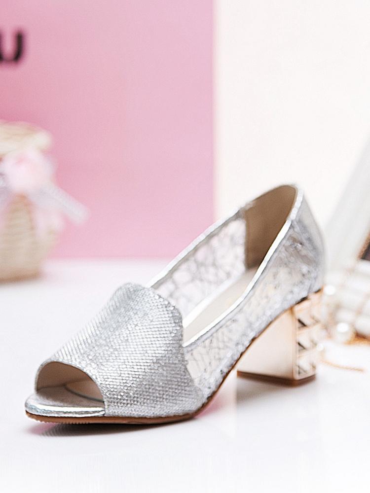 毅雅凉鞋鱼嘴镂空网纱时尚银-聚美优品-名模型狗树脂图片
