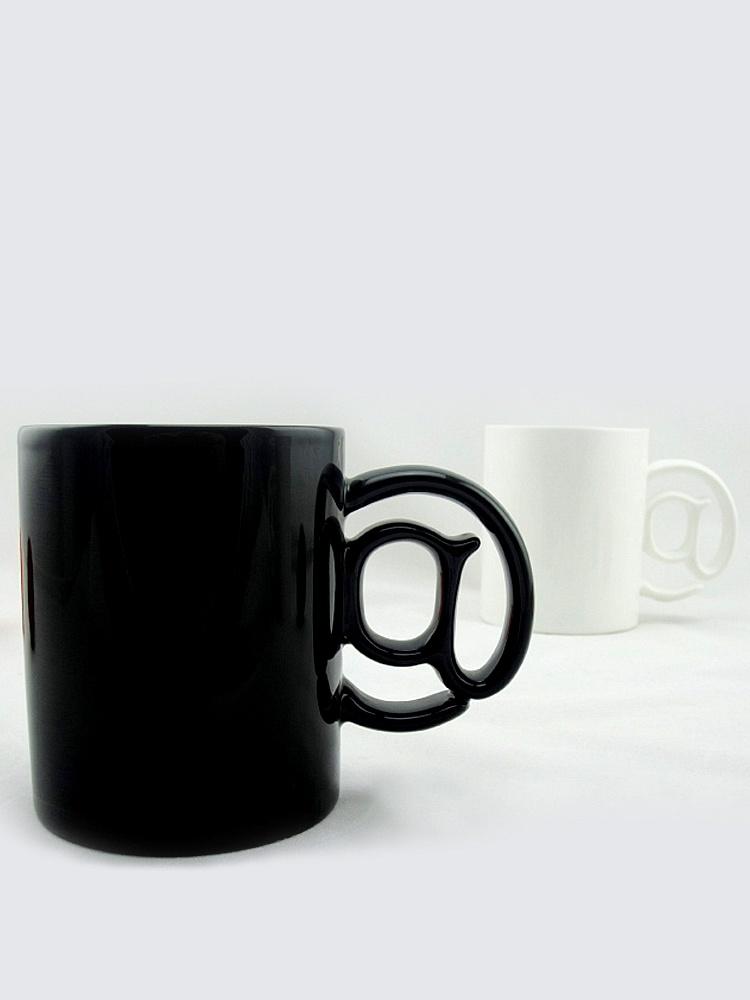 悠家良品 @创意造型陶瓷杯子,@把手,手指很好的受力支点.