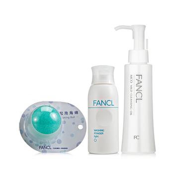 FANCL洁面卸妆日常清洁套装(卸妆液120ml+洁面粉50g)