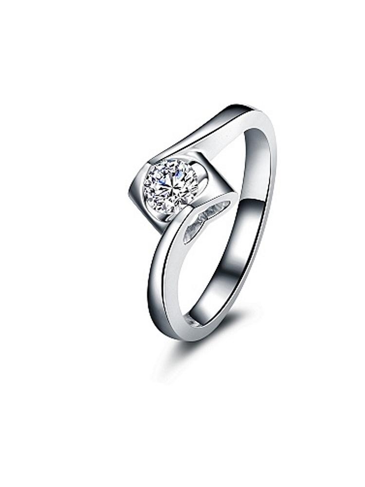 珂兰钻石 18K金钻戒 天使之吻 - 聚美优品 - 名品