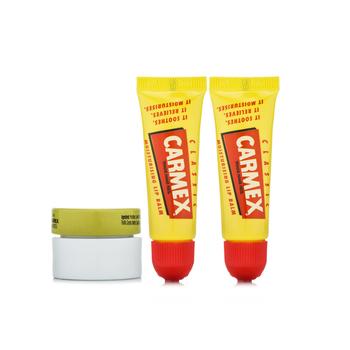 美国•小蜜媞(Carmex)修护唇膏三件套(管装10g*2+盒装7.5g*1)