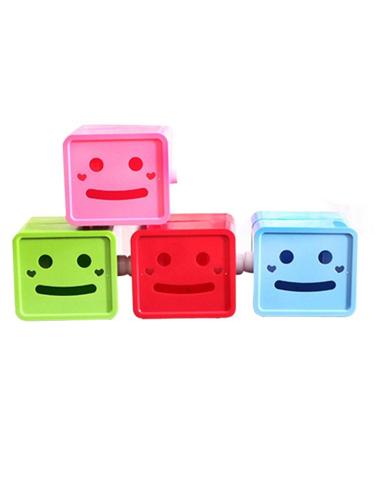 可爱卡通方形笑脸纸巾抽/纸巾盒