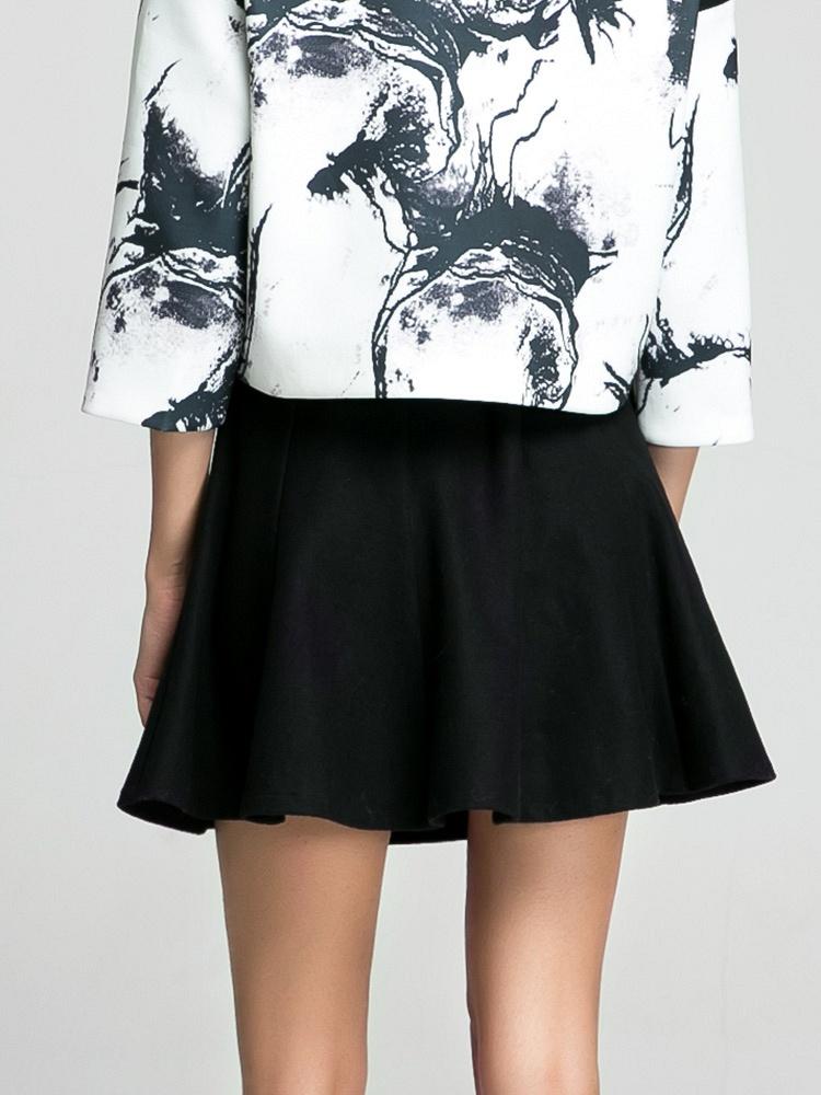 尚蔓半身裙2014秋冬季女装新款a字裙荷叶边半身裙伞