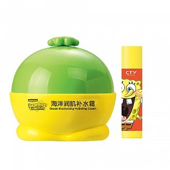 美国•海绵宝宝 (SpongeBob)海洋润肌补水霜 35g+送海洋营养润唇膏5g