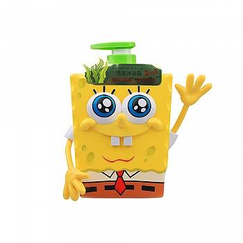 美国?海绵宝宝 (SpongeBob)多元海藻呵护洗沐二合一500ml(海绵宝宝3D)