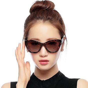 三氏女款时尚偏光太阳镜8513豹纹