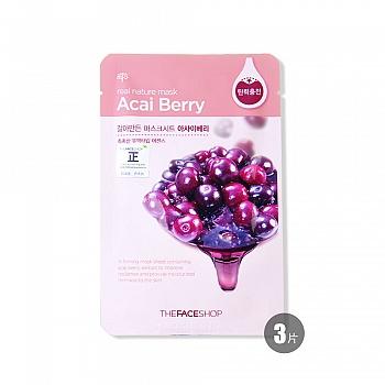 韩国•菲诗小铺(The Face Shop)自然之源面膜-巴西莓23g*3