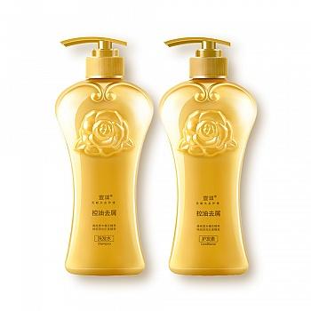 中国•宣琪木槿花无硅油控油去屑洗发护发套装(洗发水530ml+护发素530ml)