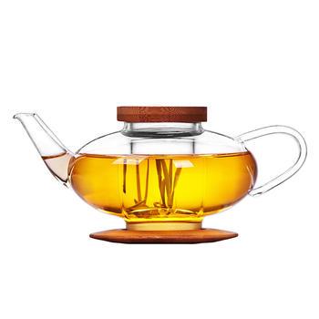 物生物森系灯笼壶耐热玻璃泡茶壶