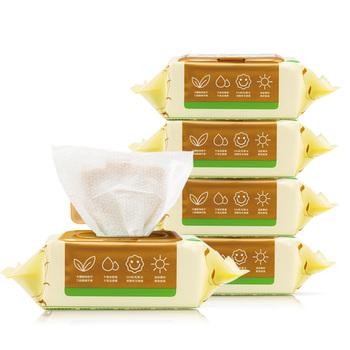 中国•润本Runben 婴儿手口湿巾(有盖)80片*5包