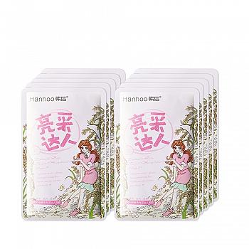 中国•韩后(Hanhoo)浓粹白米酵素亮采达人面膜22ml*10