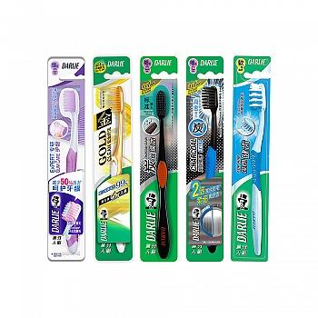 黑人(DARLIE)专研护龈牙刷+炫金纤洁牙刷+炭丝深洁牙刷+炭丝高密牙刷+俊朗健齿牙刷