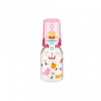 德国•NUK 110ML PP 彩色奶瓶(带1号硅胶中圆孔奶嘴)