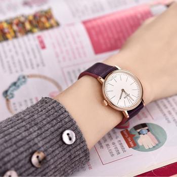 聚利时商务时尚皮带超薄女士手表