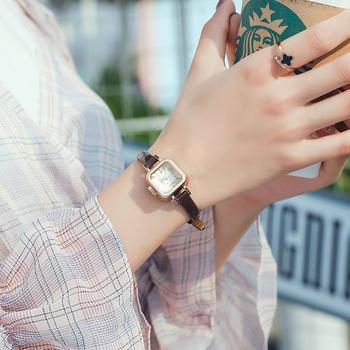 聚利时棕皮知性OL石英女士手表