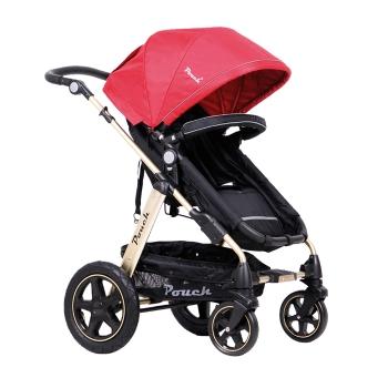 Pouch高景观婴儿推车P680金爵红
