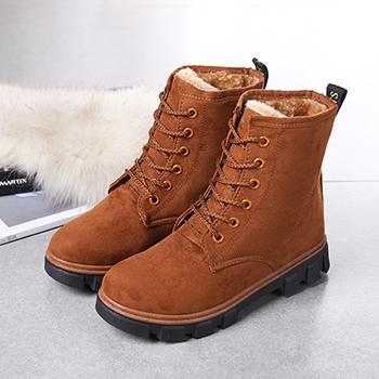 娅莱娅冬季新款时尚潮马丁靴驼色