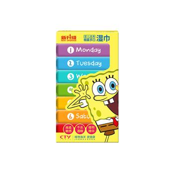美国?海绵宝宝 (SpongeBob)婴儿手口湿巾七彩装