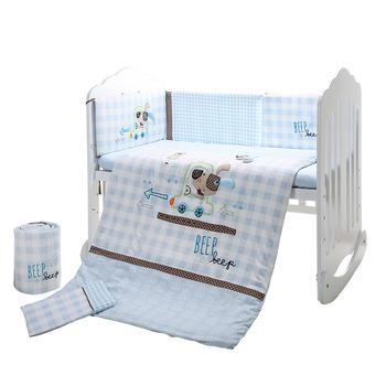 中国•澳斯贝贝婴儿床品7件套 帕帕贝拉