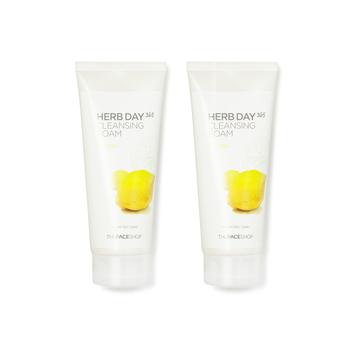 韩国•菲诗小铺(The Face Shop)每日草本柠檬泡沫洁面膏 170g 双支装