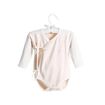 中国•澳斯贝贝婴儿彩棉长袖包臀衣 棕