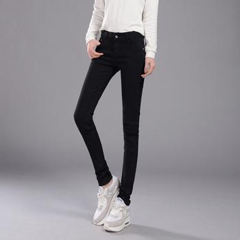 新款韩版1961黑修身显瘦牛仔裤
