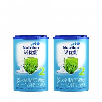 荷兰•Nutrilon诺优能较大婴儿配方奶粉(6-12个月龄,2段)900g*2