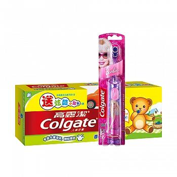 美国•高露洁(Colgate)儿童蓝莓味(2-5岁)40g送赠品+儿童电动牙刷(女孩版)