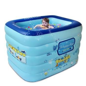 欧培婴儿游泳池方形 充气加厚保温1.2m开心每天