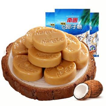 南国食品特浓椰子糖200gx3袋
