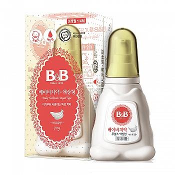 韩国?保宁(B&B)婴儿牙膏1阶段(液体型-香蕉香)