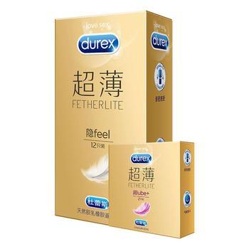 杜蕾斯避孕套安全套超薄隐形装12只
