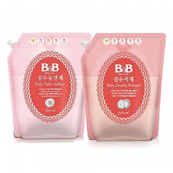 韩国•保宁纤维洗涤剂800ml*1+纤维柔顺剂800ml*1