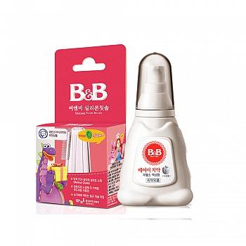 韩国?保宁硅胶指套牙刷*1+婴儿牙膏液体(?#36824;?1