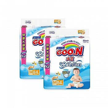 日本•GOO.N® 大王环贴式纸尿裤 维E系列 M84片 电商专供*2包