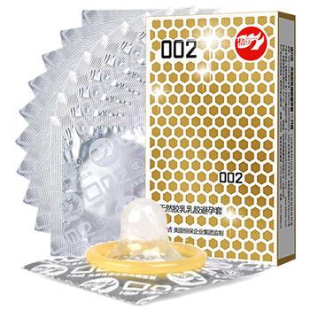 倍力乐安全避孕套002黄金版10只装