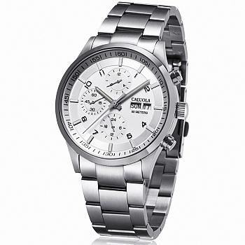 中国•卡罗莱自动机械表钢带男士手表