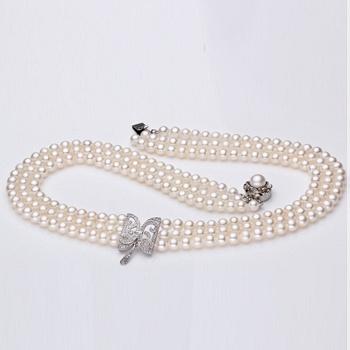 中国?珍珠多层项链 高贵