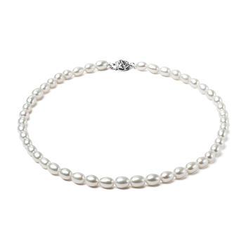 漂亮百合 925银珍珠项链  佳人